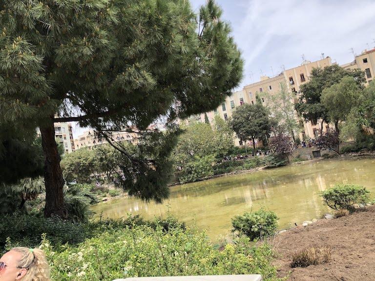サグラダ・ファミリア前の公園の池