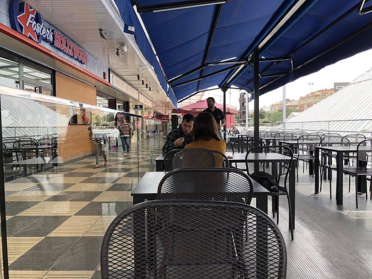 バレンシアのショッピングモール