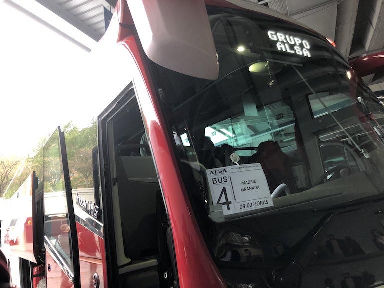 グラナダ行きバス