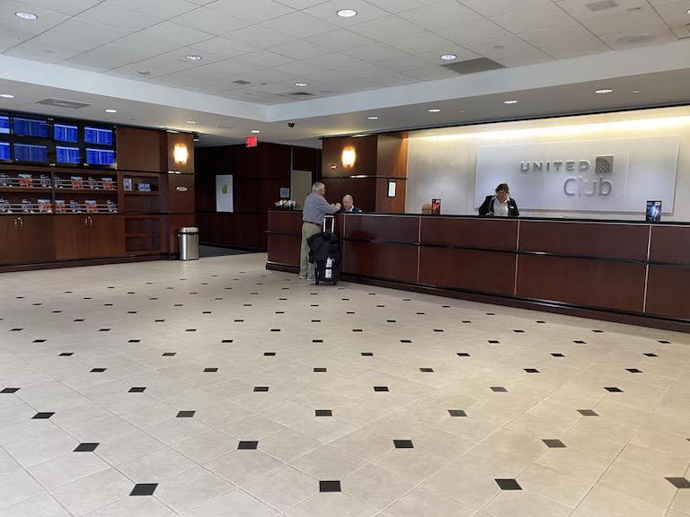 ヒューストン国際空港 ユナイテッドクラブ 入り口