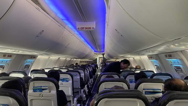 アラスカ航空機内
