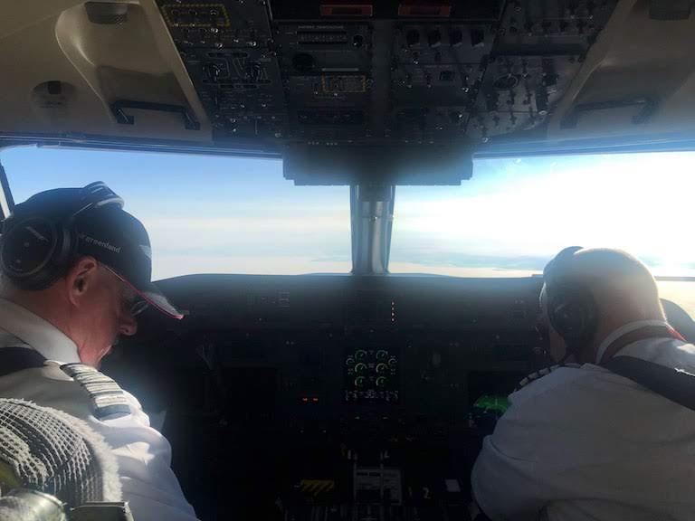 グリーンランド航空 コクピット