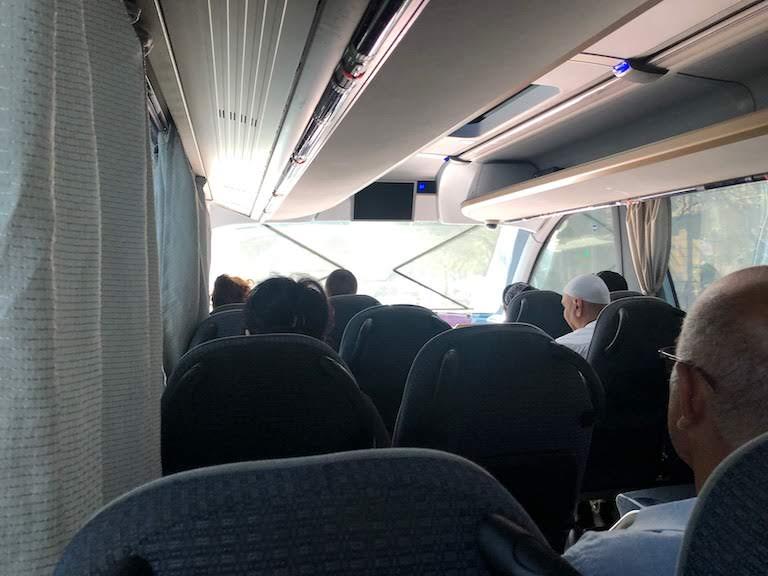 バクー・エアポートエクスプレスバス車内