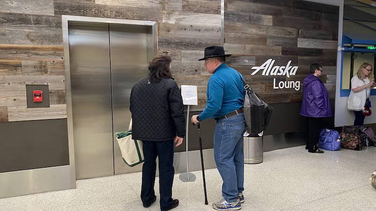 Alaska Lounge エレベーター