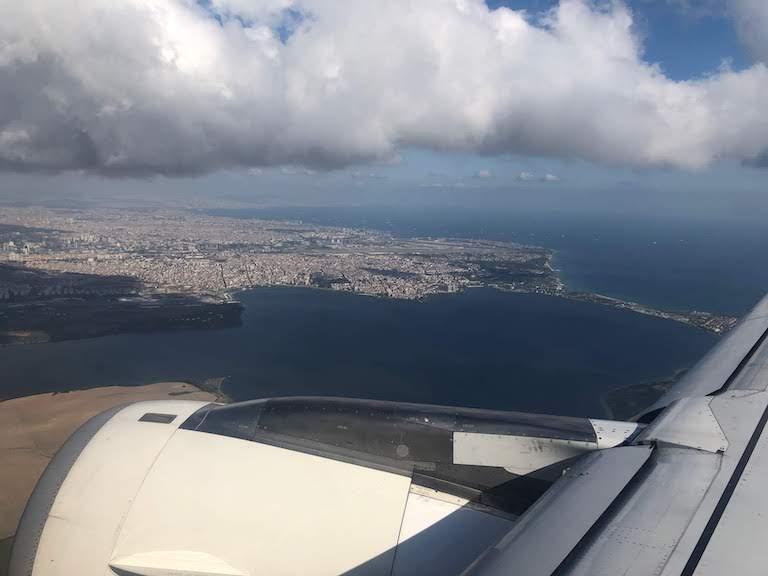 ターキッシュエアラインズ イスタンブール上空