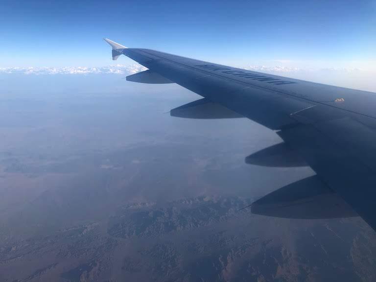 エアチャイナ カザフスタン上空