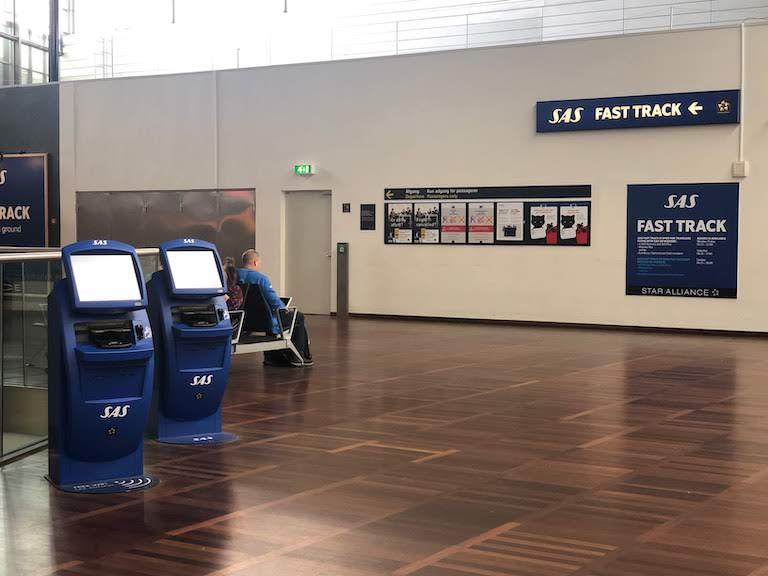 コペンハーゲン空港 SAS FAST TRACK