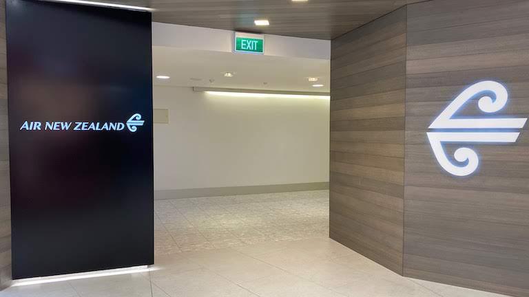 ニュージーランド航空国際線ラウンジ 入り口