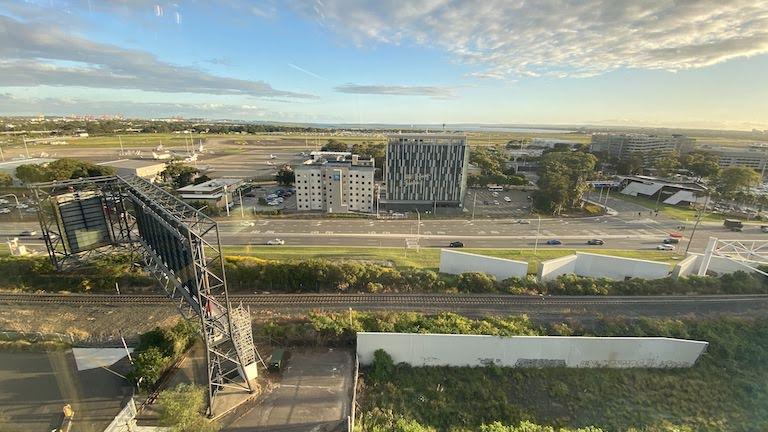 シタディーン シドニー 空港側の景色