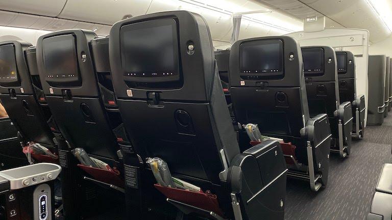 JAL国際線プレミアムエコノミー 座席