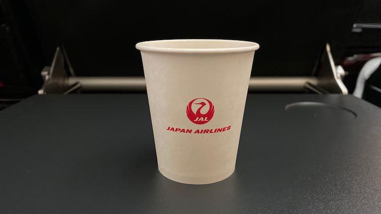 JAL国際線プレミアムエコノミー ドリンクカップ