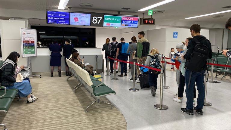 JAL国際線プレミアムエコノミー 搭乗ゲート