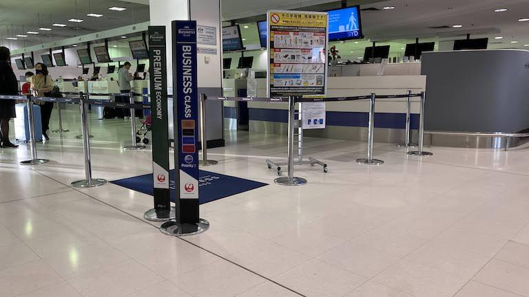シドニー国際空港 JALチェックインカウンター