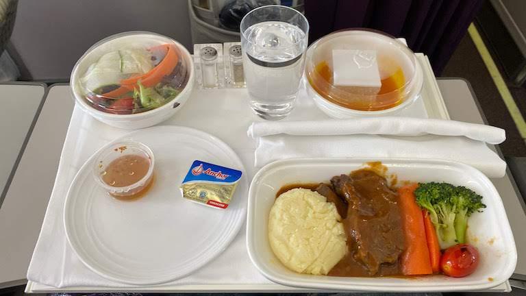 マレーシア航空 ビジネスクラス 機内食