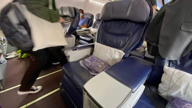 マレーシア航空 ビジネスクラス シート