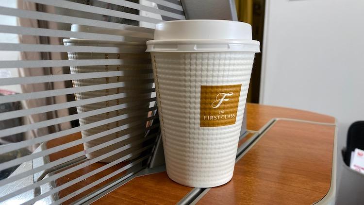 JAL国内線ファーストクラス コーヒー